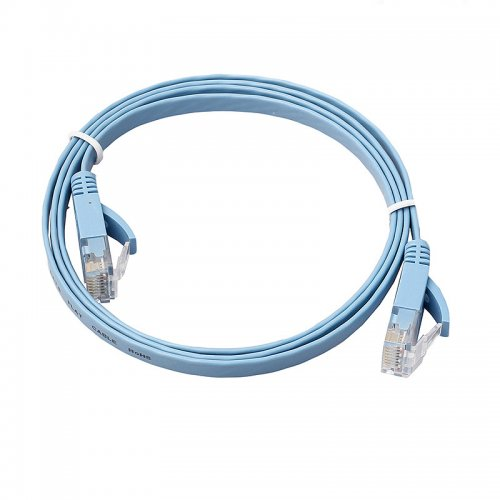 1m CAT6 RJ-45 Ultra-Thin Flat Ethernet Network Cable for Smart TV Xbox - Blue