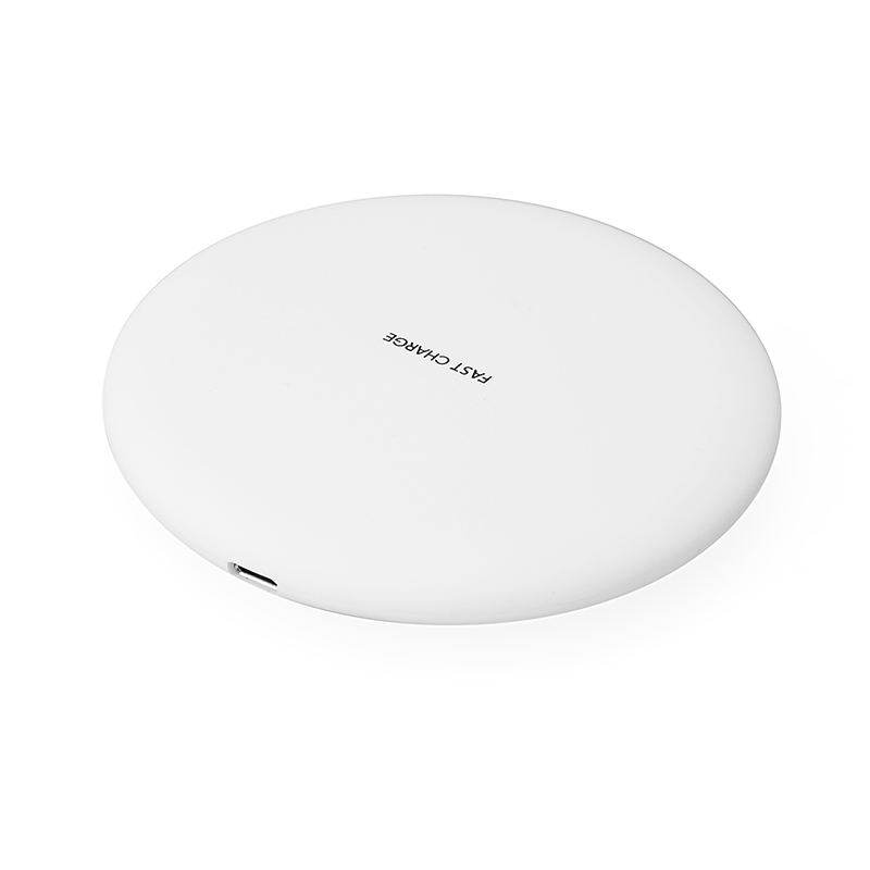 KC-N5 Qi Fast Wireless Charger Charging Dock Pad for iPhone X/8/8 Plus Samsung Galaxy S8/S7 - White