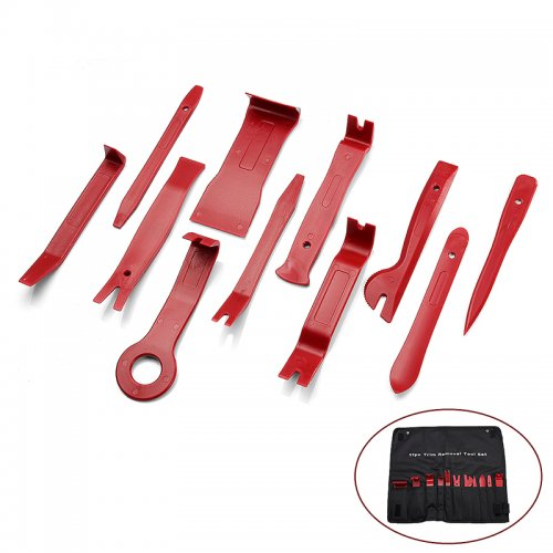 11pcs Audio Stereo GPS Dash Panel Trim Install Remove Tool Set - Red