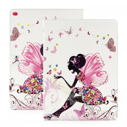 Bling Crystal Magnetic Flip Stand Leather Case Cover Shell for iPad Pro - Butterfly Fairy