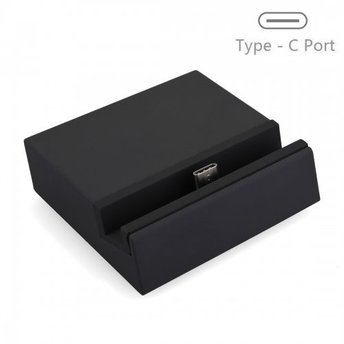 USB 3.1 USB to Type-C Dock Charger Charging Desktop Cradle Station for Mobile Phones - Black