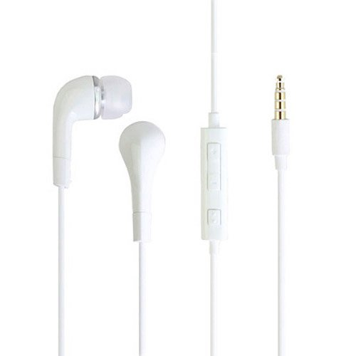 In-Ear Stereo Earphone With Volume Control - White