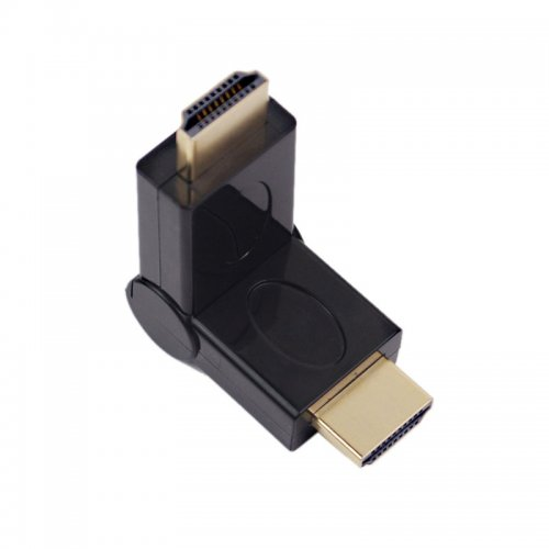 Gold-Plated Rotatable Male HDMI to Male HDMI Adapter