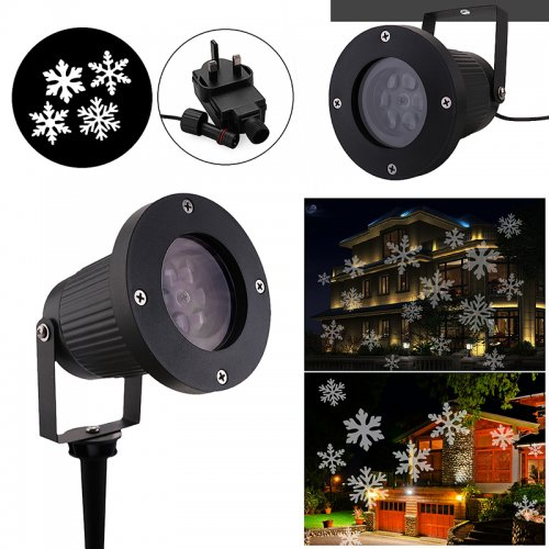 Outdoor Garden LED Moving Snowflake Landscape Laser Projector Lamp Xmas Light