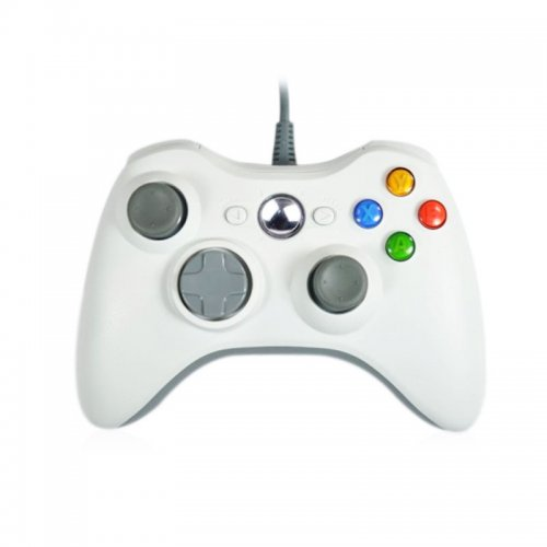 Xbox 360  Wired Controller - White