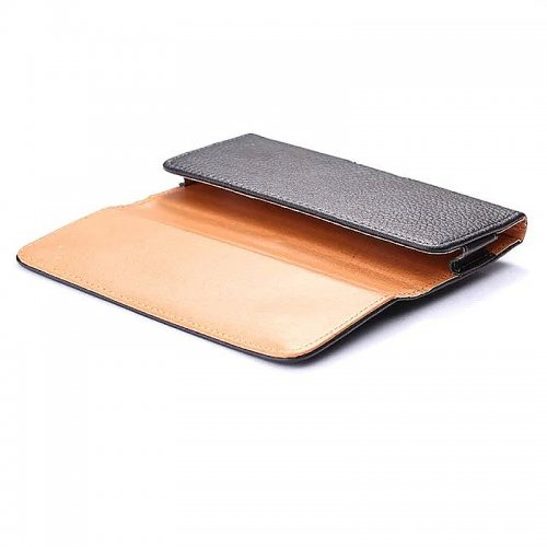 4.7 Inch Magnetic Litchi PU Leather UP and Down Open Horizontal  Belt Clip Holster Pouch Cover Case
