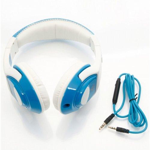 VYKON-MQ44 Headphone Headset With Microphone/ Control Unit - Blue