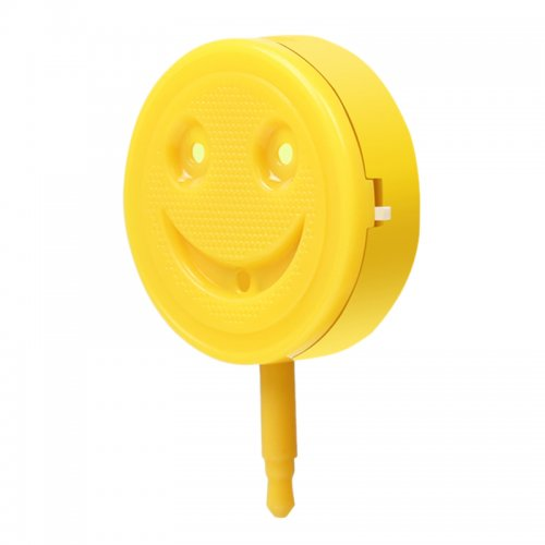 Smile Face Smart Selfie LED Flashlight for iOS iPhone 6S 6S Plus Android Phone - Yellow