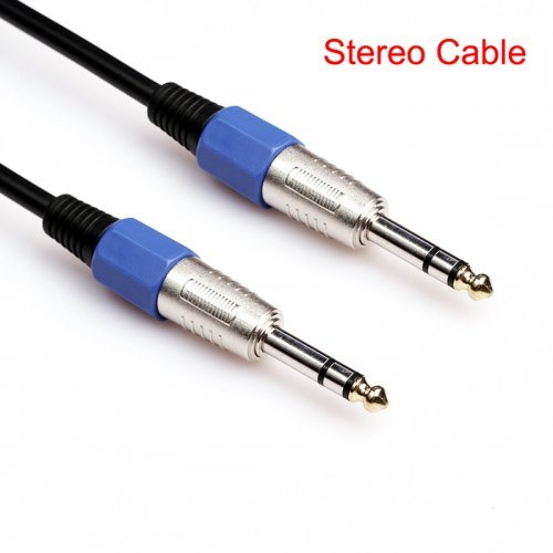 15M Premium Stereo 6.35mm Male to Male Audio Cable Gold Plated Electric Guita Cord
