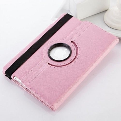 360 Rotation Case Cover for iPad Air 5/5th--Pink