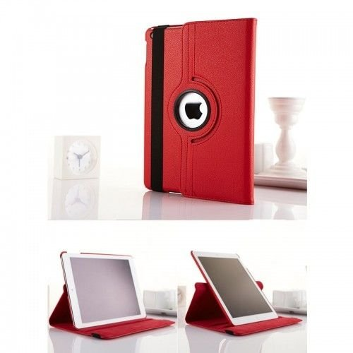 360 Rotation Case Cover for iPad Air 5/5th--Red