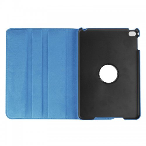 360 degree Rotating PU Leather Flip Stand Case Cover Skin for iPad Mini 1/2/3 - Blue