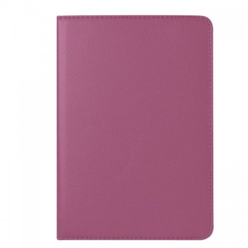 360 degree Rotating PU Leather Flip Stand Case Cover Skin for iPad Mini 4 - Purple