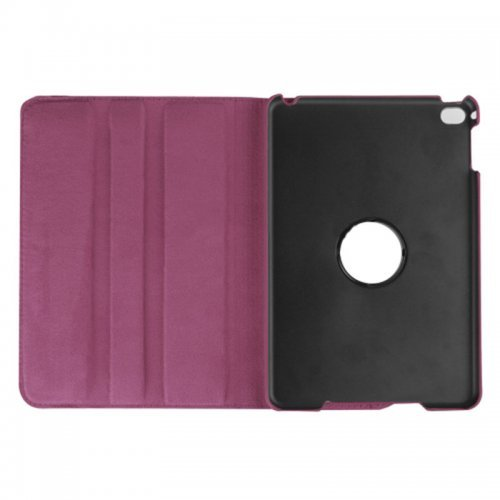 360 degree Rotating PU Leather Flip Stand Case Cover Skin for iPad Mini 1/2/3 - Purple