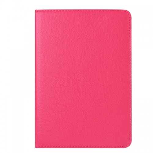 360 degree Rotating PU Leather Flip Stand Case Cover Skin for iPad Mini 4 - Rose Red