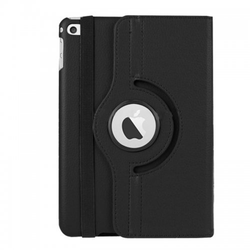 360 degree Rotating PU Leather Flip Stand Case Cover Skin for iPad Mini 1/2/3 - Black