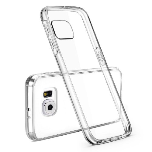 Super Thin Slim Acrylic Transparent Back Case Skin for Samsung S6 Edge - Transparent