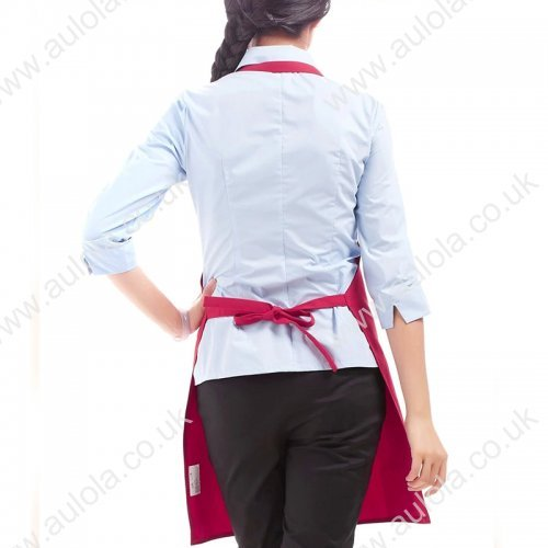 Plain Apron with Front Pocket for Chefs Kitchen Cooking Crafts -Pink