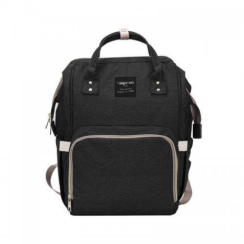 Fashion Large Mummy Maternity Baby Nappy Diaper Bag Travel Backpack - Black