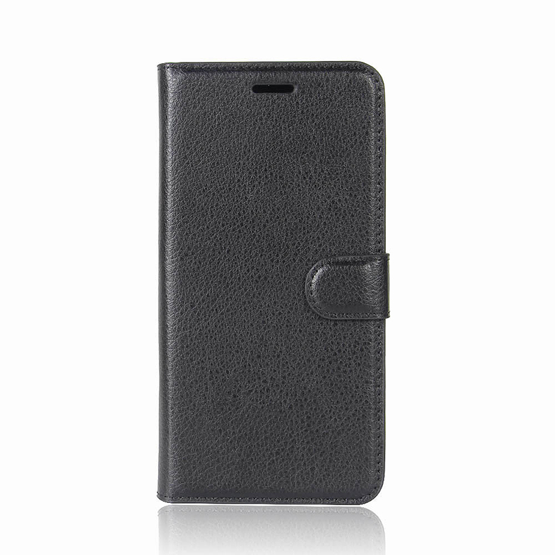 Litchi Texture PU Leather Flip Wallet Case Cover with Card Slots for Samsung Galaxy S9 - Black