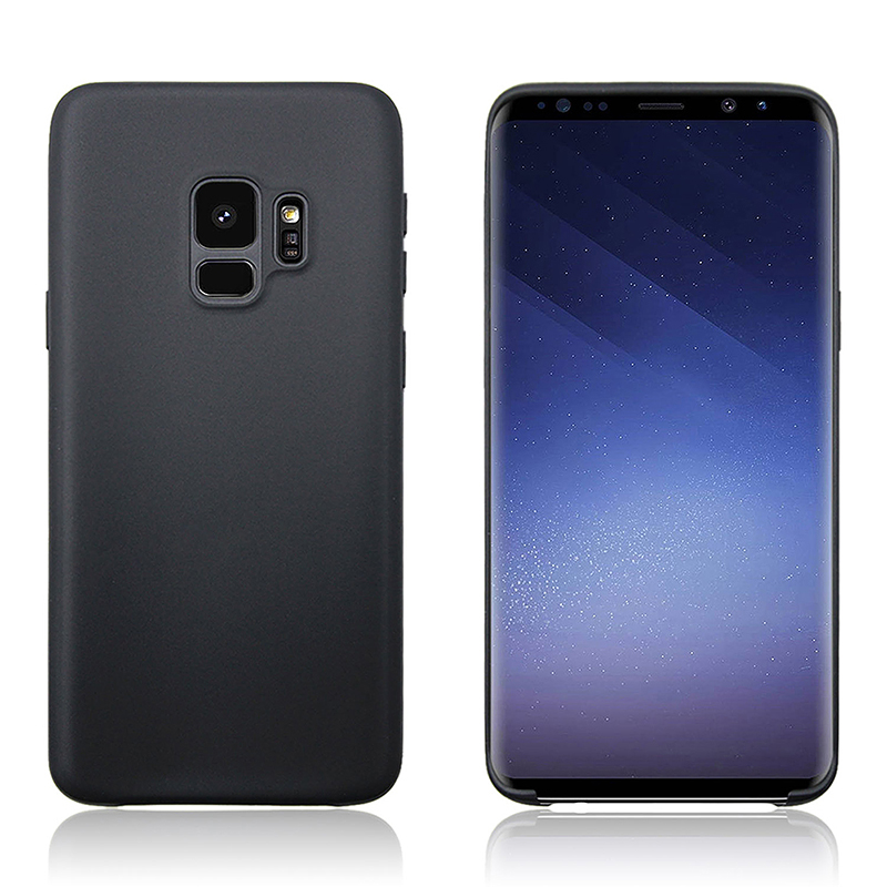 Samsung Galaxy S9 Ultra Slim Flexible Soft TPU Silicone Shockproof Case Back Cover - Black
