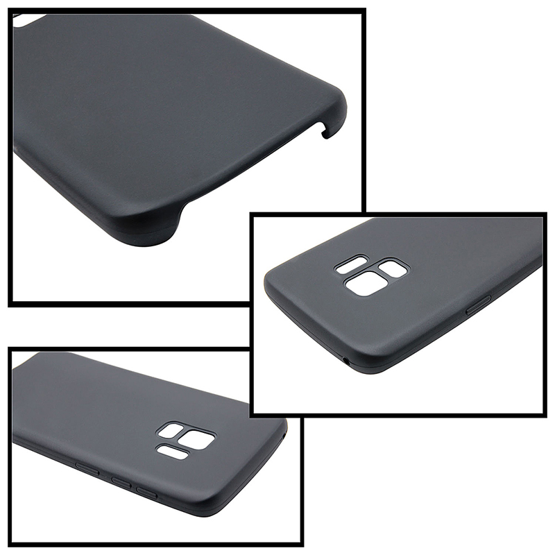 Samsung Galaxy S9 Ultra Slim Flexible Soft TPU Silicone Shockproof Case Back Cover - Black