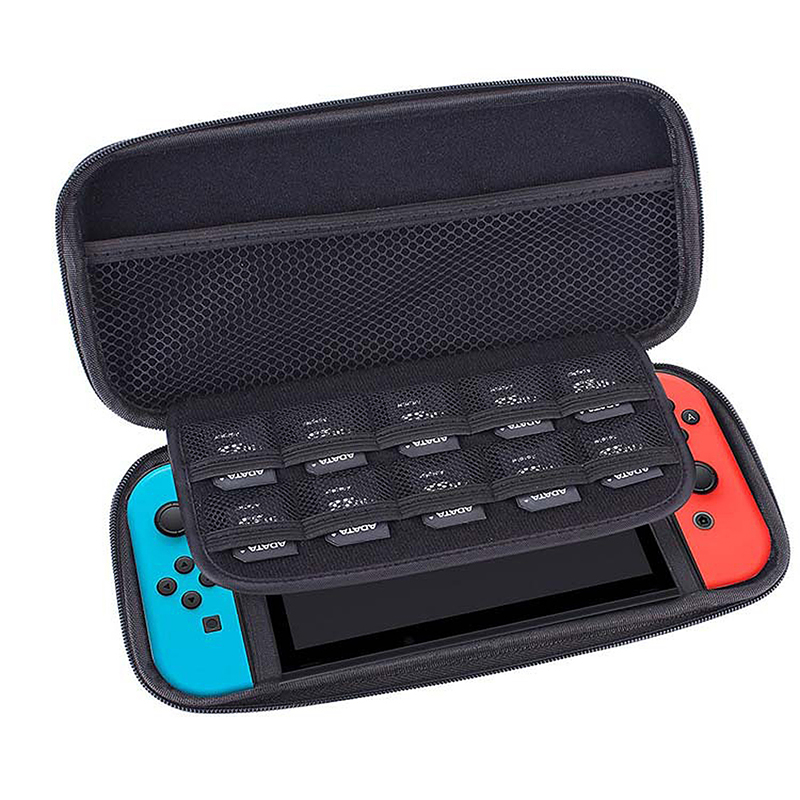 Nintendo Switch Hard Protective Storage Bag Console Game Portable Carry Case Cover - Black