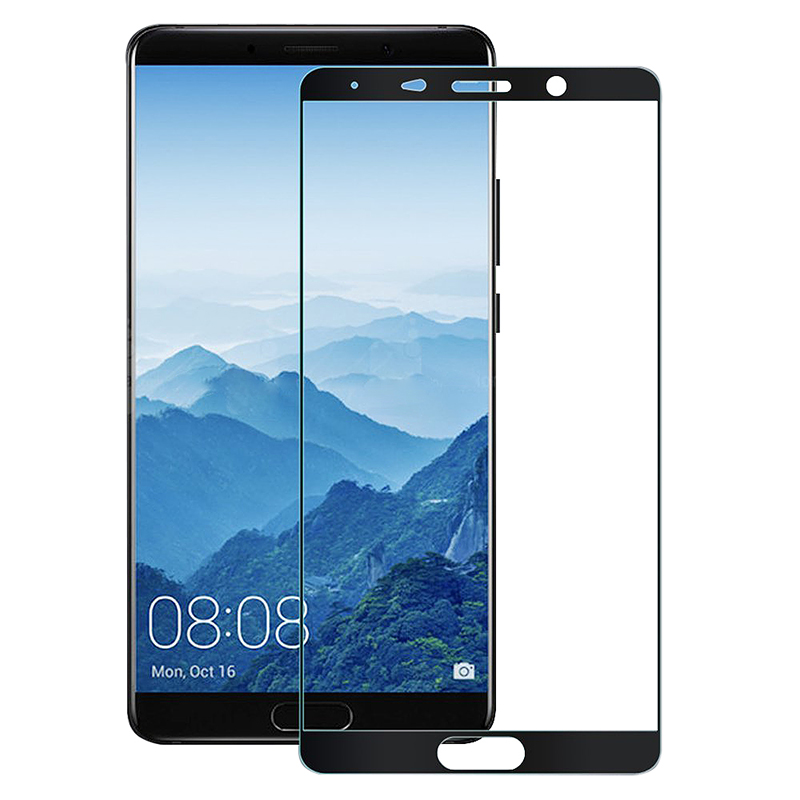 Huawei Mate 10 Shockproof Tempered Glass Super Thin Anti-Fingerprint Screen Protector - Black