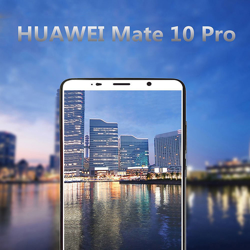 Huawei Mate 10 Pro Crystal Clear Shockproof Tempered Glass Screen Protector - White
