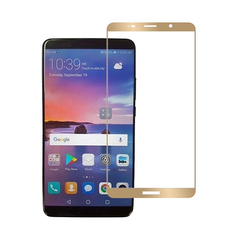 Huawei Mate 10 Pro Crystal Clear Shockproof Tempered Glass Screen Protector - Golden