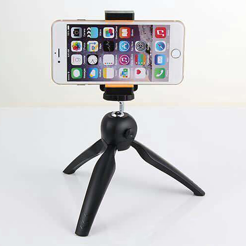 LR-268 Mini Tripod Portable Mount Stand Holder for Mobile Camera - Black