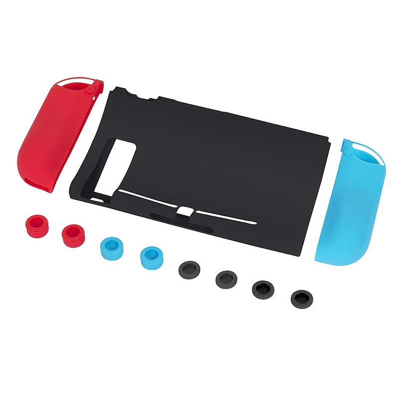 11PCs/Set Silicone Case Anti-slip Cover Cap for Nintendo Switch Joy-Con Controller Console Joystick