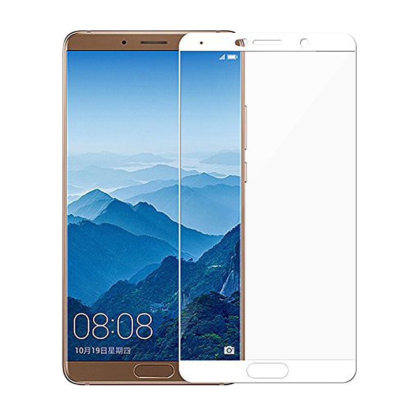 Huawei Mate 10 Shockproof Tempered Glass Super Thin Anti-Fingerprint Screen Protector - White