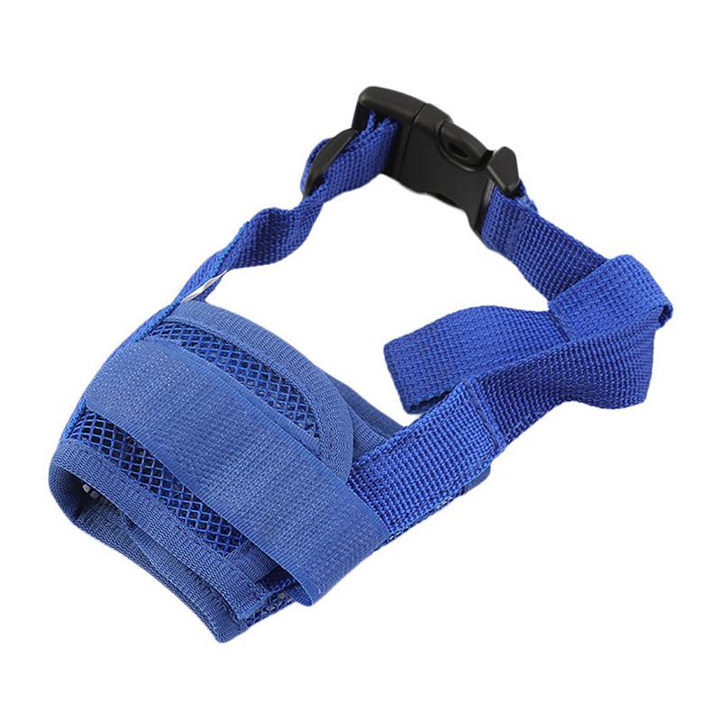 Dog Anti Bark Bite Chew Mesh Mouth Mask Adjustable Breathable Safety Muzzle - Size S