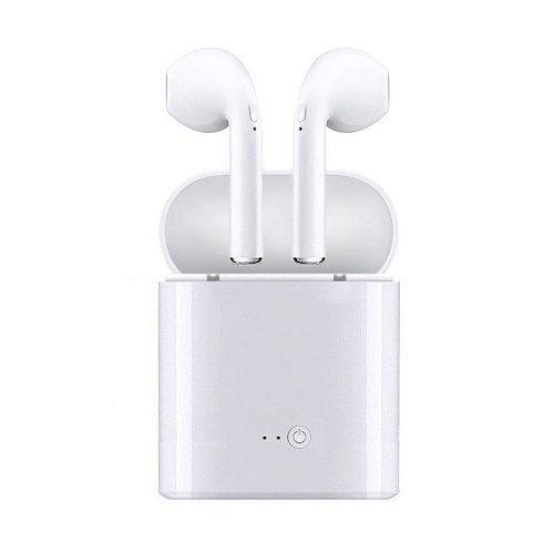 1 Pair Bluetooth Earbud Wireless Headset In Ear Sport Earphones for Apple iPhone 7 8 - White