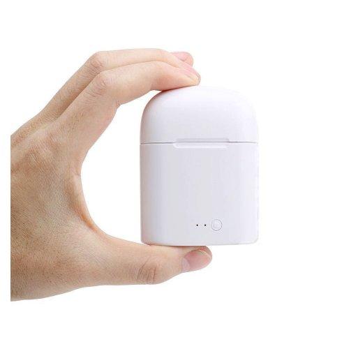 1 Pair Bluetooth Earbud Wireless Headset In Ear Sport Earphones for Apple iPhone 7 8 - White