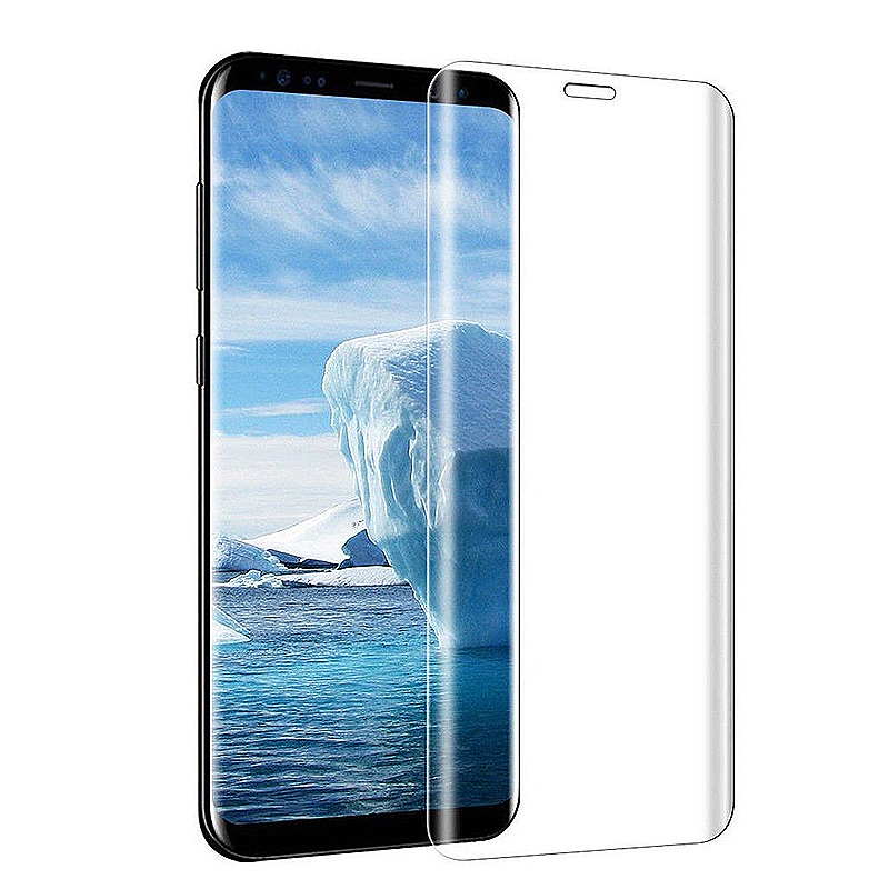 9H Shockproof 3D Full Coverage Tempered Glass Screen Protector for Samsung S9 Plus - Clear