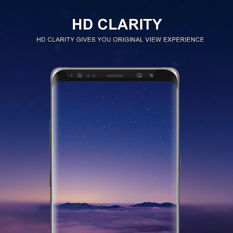 Ultra Thin 9H Hardness 3D Protective Tempered Glass Screen Protector for Samsung S9 Plus - Black