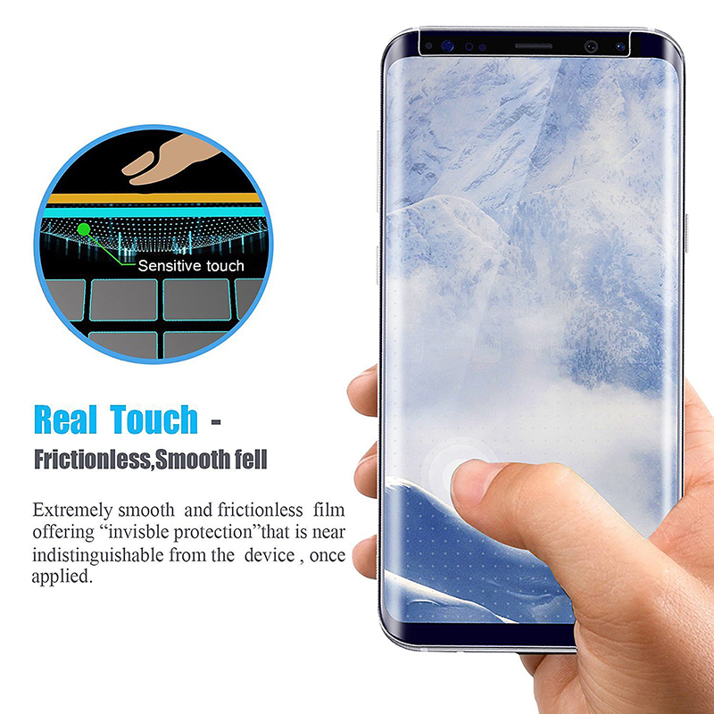 Ultra Thin 9H Hardness 3D Protective Tempered Glass Screen Protector for Samsung S9 Plus - Clear