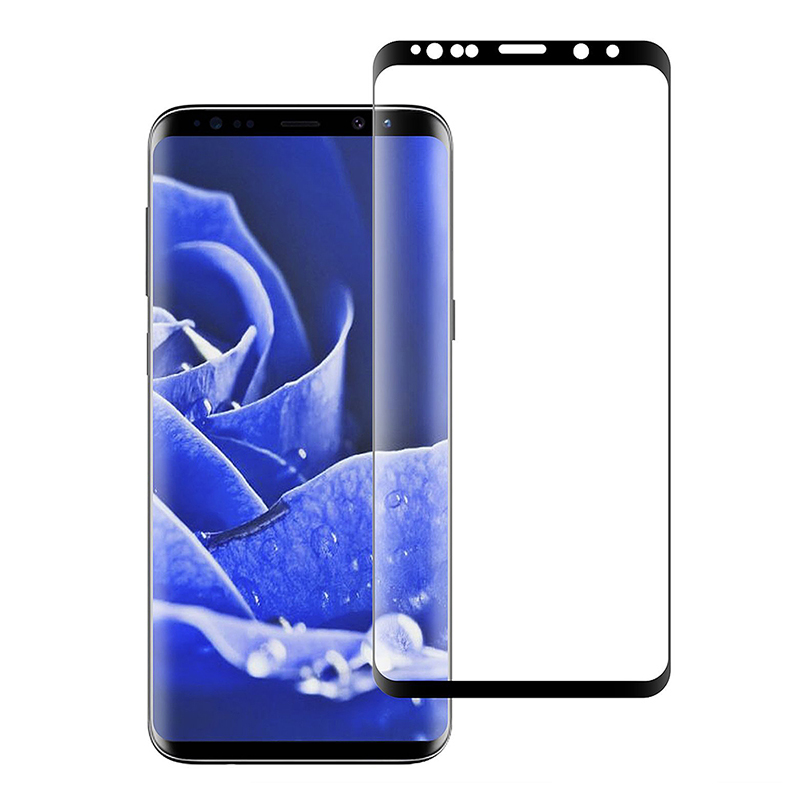 3D Full Coverage Shockproof Tempered Glass Screen Protector for Samsung Galaxy S9 - Black
