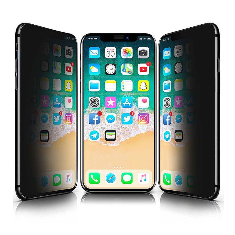 Half-screen Privacy Anti-spy Tempered Glass Screen Protector Film for iPhone X/XS/11 Pro