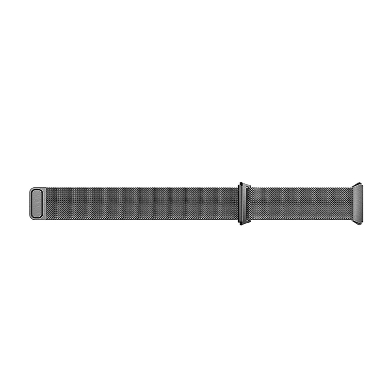 Milanese Stainless Steel Mesh Replacement Watchband Wrist Strap for Fitbit Ionic Size S - Black