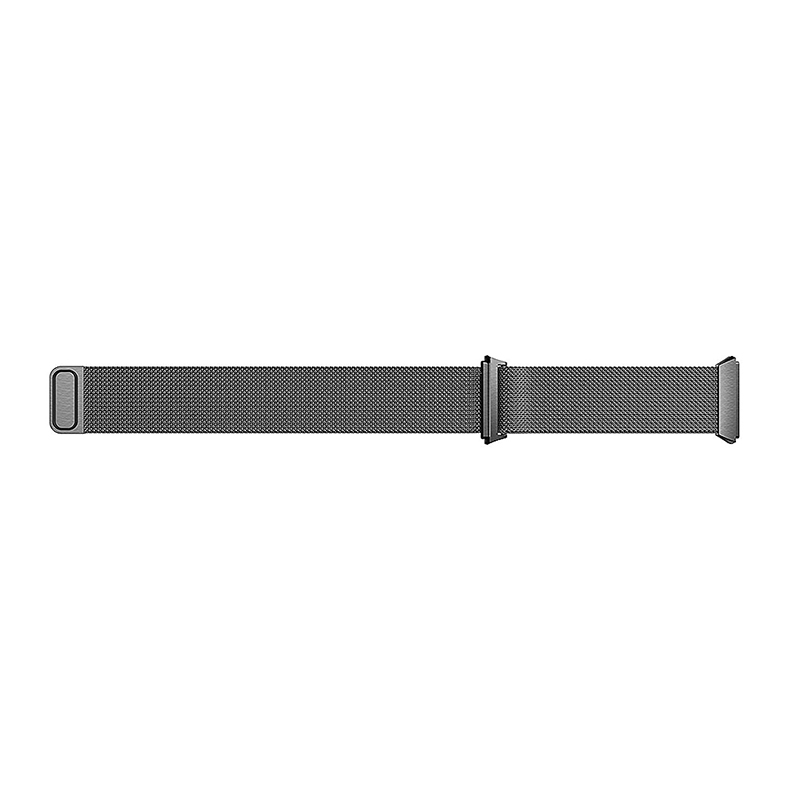 Milanese Stainless Steel Mesh Replacement Watchband Wrist Strap for Fitbit Ionic Size L - Black