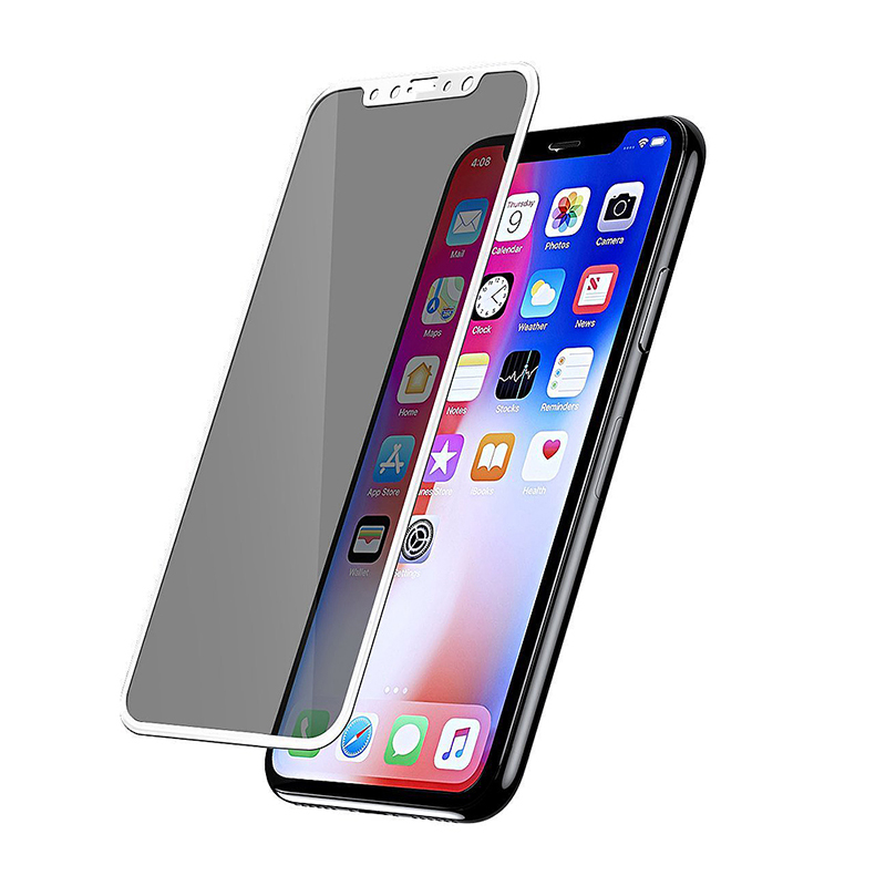 Full-screen Privacy Anti-spy Tempered Glass Screen Protector Guard for iPhone X/XS/11 Pro - White