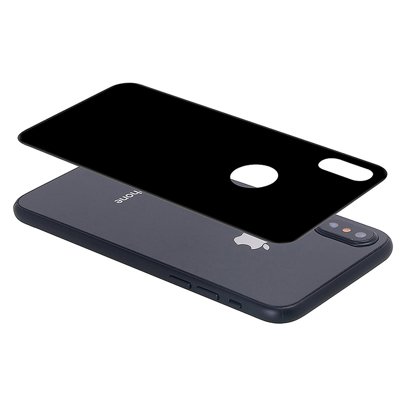 9H Hardness Anti-scratch Tempered Glass Back Protector Film for iPhone X/XS/11 Pro - Black