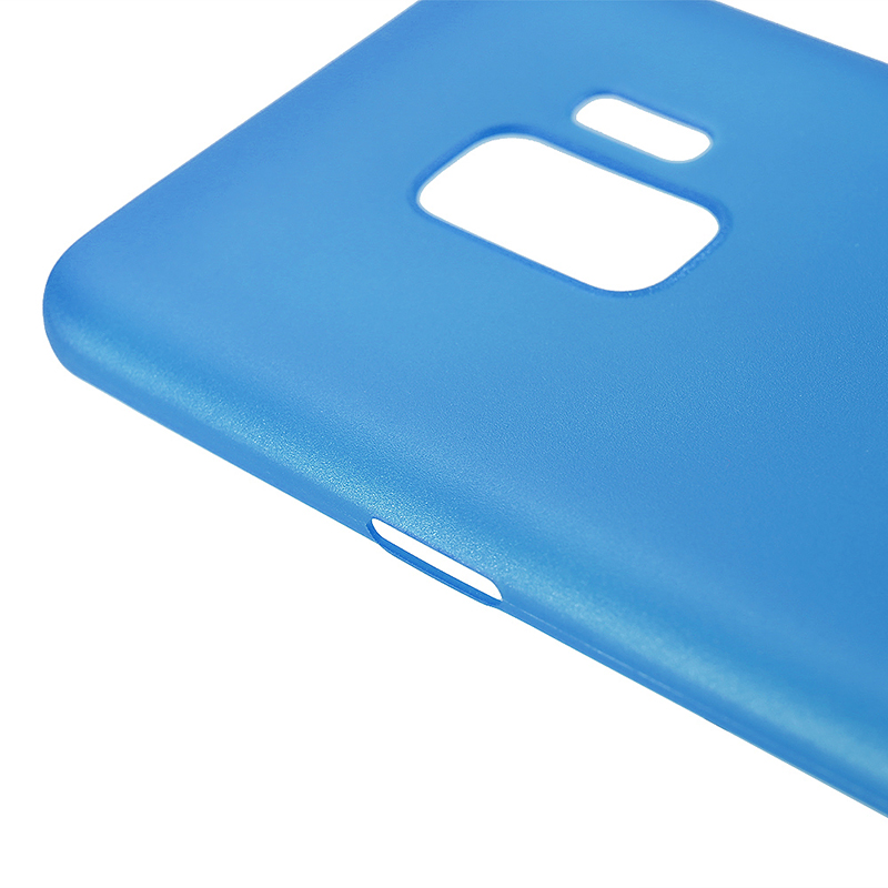 Ultra Thin Frosted PC Hard Protective Case Back Cover Shell for Samsung S9 - Blue
