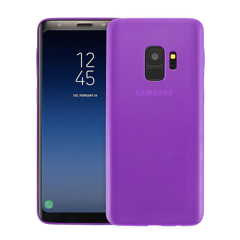 Ultra Thin Frosted PC Hard Protective Case Back Cover Shell for Samsung S9 - Purple