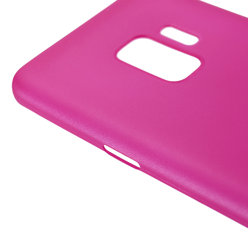 Ultra Thin Frosted PC Hard Protective Case Back Cover Shell for Samsung S9 - Rose Red
