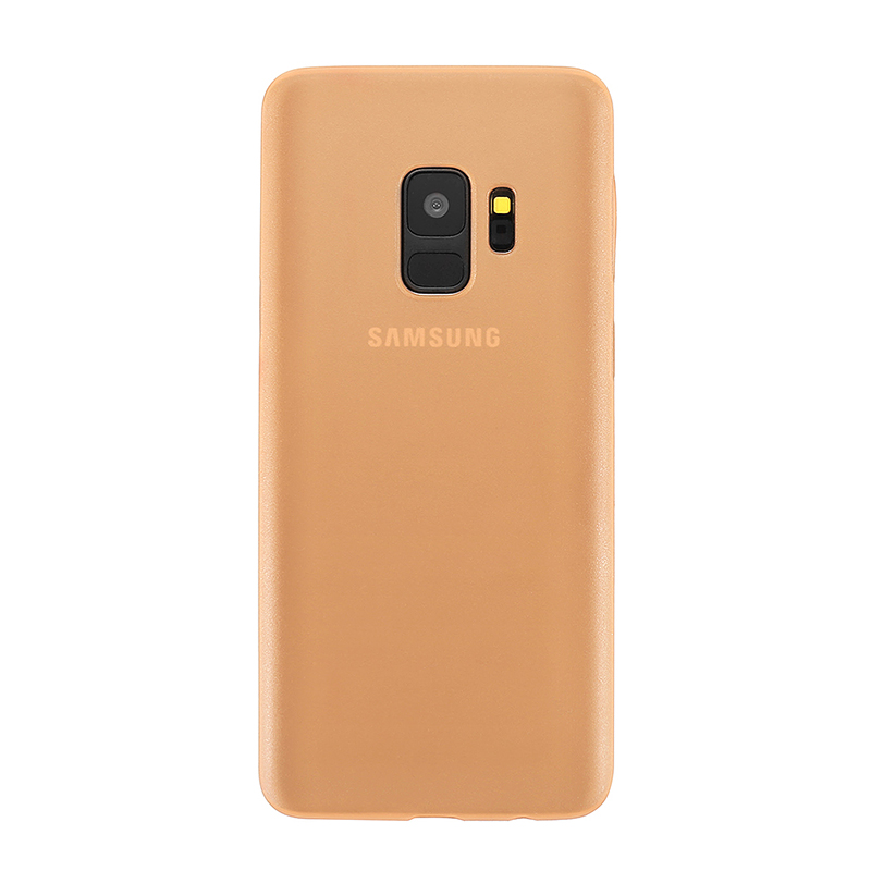 Ultra Thin Frosted PC Hard Protective Case Back Cover Shell for Samsung S9 - Gold