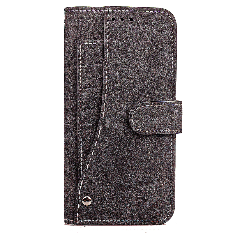 Vintage Grind PU Leather Wallet Case Flip Stand Rotating Card Slots Cover for Samsung Note 8 - Black
